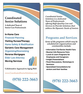 Coordinated Senior Solutions Rack Card | by bgardner51082