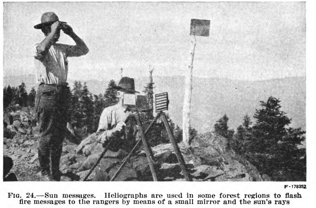 Us Signal Service Heliograph In Forest Service August 30