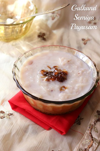 gulkand payasam with vermicelli | by Divya Pramil 03