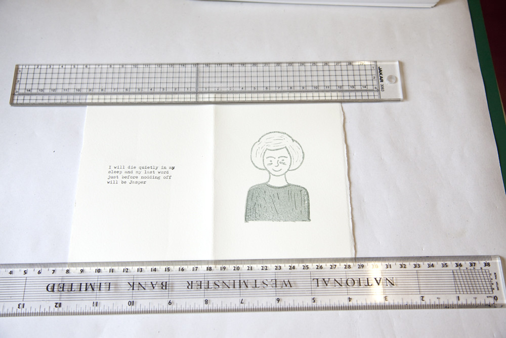 Rubber Stamp Printing Artitst Book