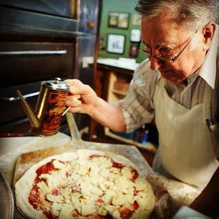 Difara's pizza in midwood section of Brooklyn. This man does not cut corners when it comes to fresh ingredients. | by Nino.Modugno