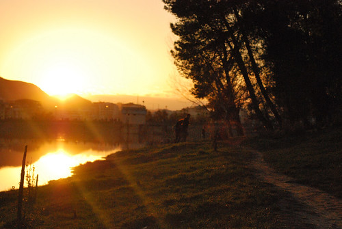 sunset lake mountains landscape couples albania photostream tirana