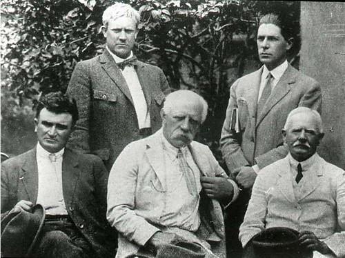 Vidkun Quisling og Fridtjof Nansen m.fl., 1920-tallet.