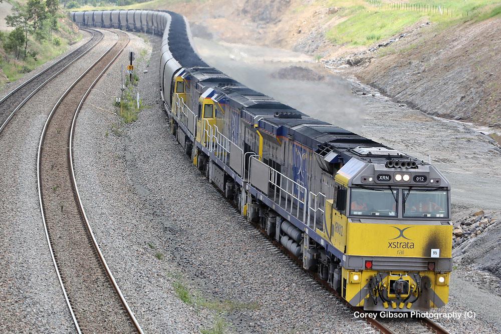 Xstrata Locomotives XRN12, XRN13 & XRN15 by Corey Gibson
