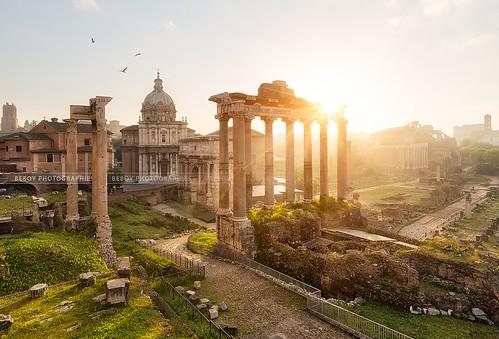 italy rome sunrise de temple soleil ruins roman forum ruin italie lever leverdesoleil romanum vestige raomain