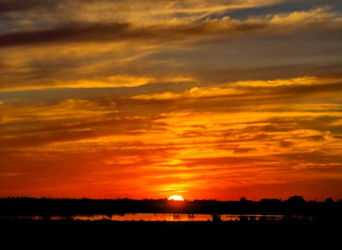 sunset orange clouds texas katy dusk silhouettes watershed prairie wetland katytexas katyprairie katyprairieconservancy