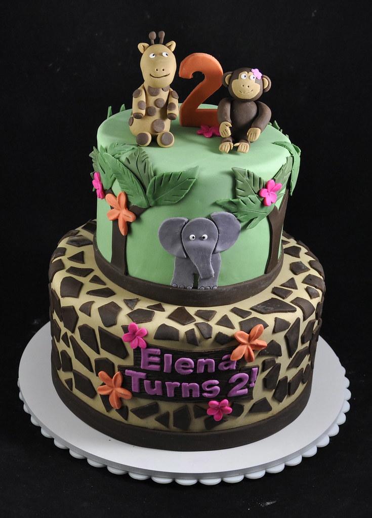 Surprising Safari Birthday Cake A Photo On Flickriver Funny Birthday Cards Online Alyptdamsfinfo