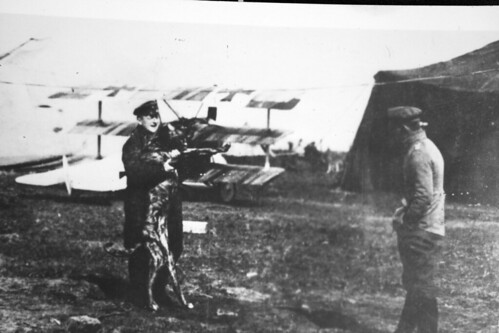 Red Baron and Dog Moritz   by San Diego Air & Space Museum Archives
