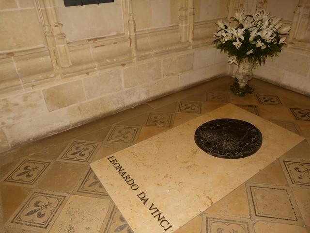 Tumba de Leonardo da Vinci en Amboise (Valle del Loira, Francia)