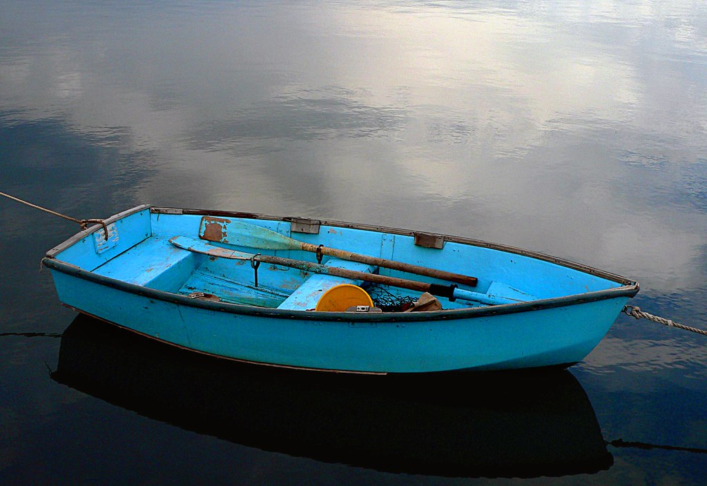 The blue boat.
