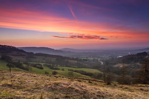 sunset landscape february birdliphill