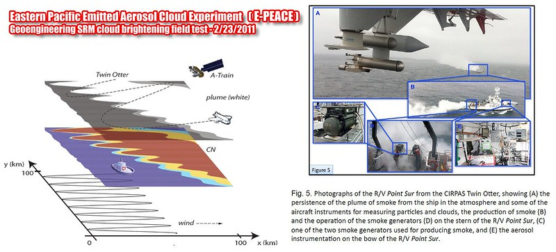 Eastern Pacific Emitted Aerosol Cloud Experiment (E-PEACE) 2-23-2011 geoengineering SRM