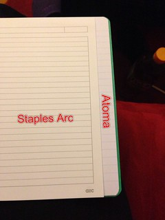 Staples Arc paper in a Atoma Notebook