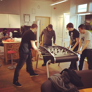 playin foosball at office | by Zee Chaudhry