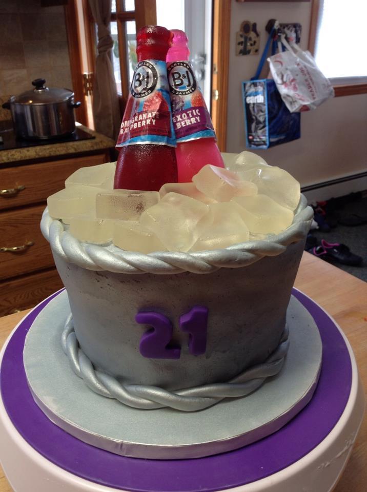 Fine Wine Cooler 21St Birthday Cake Yankeecakebaker Flickr Personalised Birthday Cards Xaembasilily Jamesorg