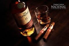Whisky Glenlivet with Brazilian Cigar