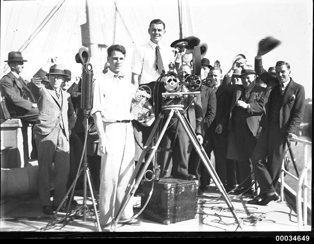 Ray Vaughan filming at a Movietone event in Circular Quay