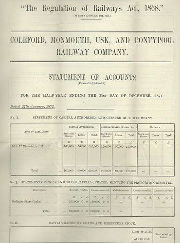Coleford, Monmouth, Usk and Pontypool Railway Accounts 1871.jpg | by ian.dinmore