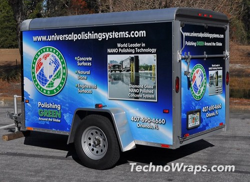 Vinyl trailer wrap by TechnoSigns