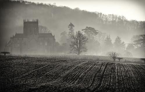 abbey blackwhite dorset february miltonabbey