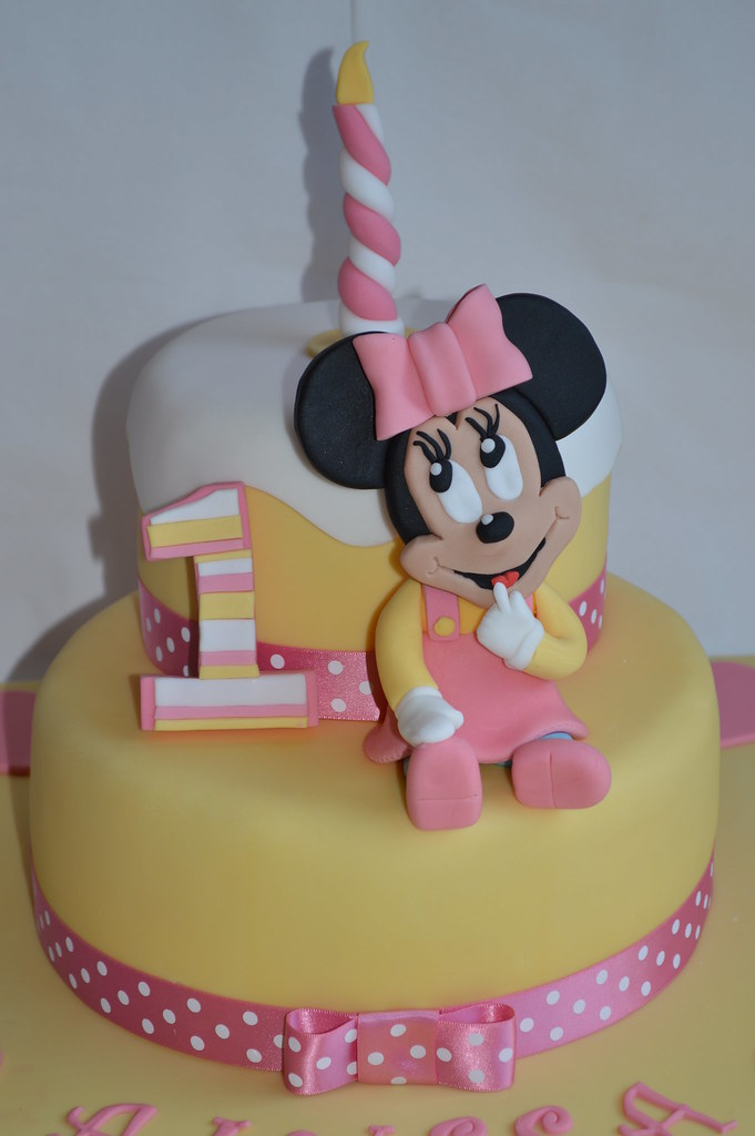 Pleasing Baby Minnie Mouse Disney Cake 1St Birthday Cake Topper Dec Flickr Personalised Birthday Cards Veneteletsinfo