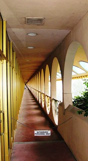 Marin Civic Center exterior path, Frank Lloyd Wright