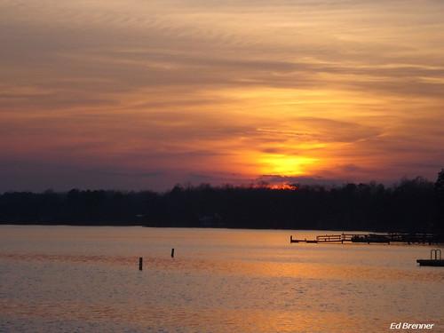 sunset water night northcarolina boatramp rowancounty