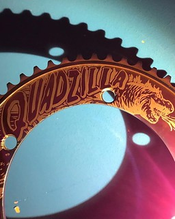 @i.v.a.n__c.h.e.u.n.g_2.2.4 took this spectacular shot of his Quadzilla @robertfoerstemann Special Edition Stealth Oil Slick chainring. The colours in different lighting always continue to surprise me.  #bespokechainrings #quadzilla #robertforstemann #rob | by bespokechainrings