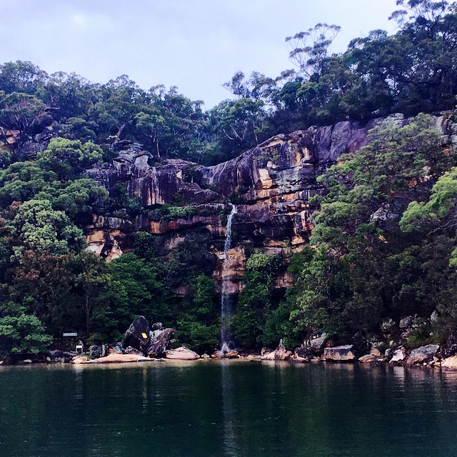 Waterfall. Refuge Bay. Pittwater.