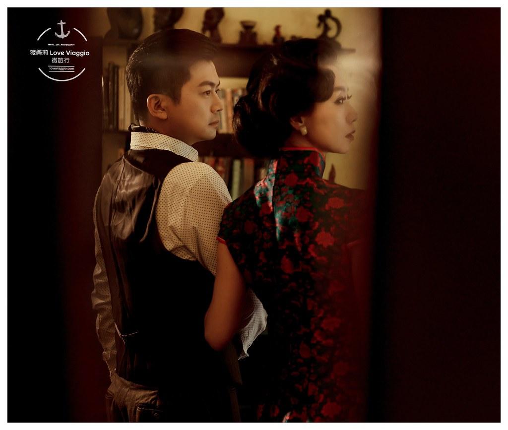 Wedding 囍 |高雄藍白旗袍訂做一件自己的婚禮旗袍 @薇樂莉 Love Viaggio | 旅行.生活.攝影
