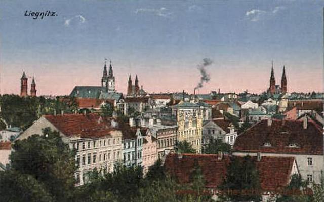 Liegnitz-Stadtansicht - alte Ansichtskarte