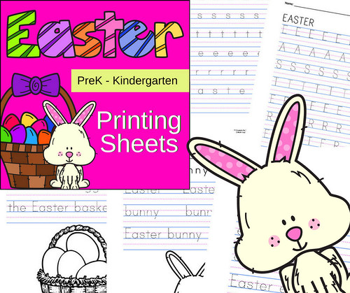Easter Printing Sheets for PreK-Kindergarten | by CHSH-Teach
