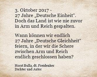 Der Tag Der Deutschen Einheit Zitat Horst Bulla Horst