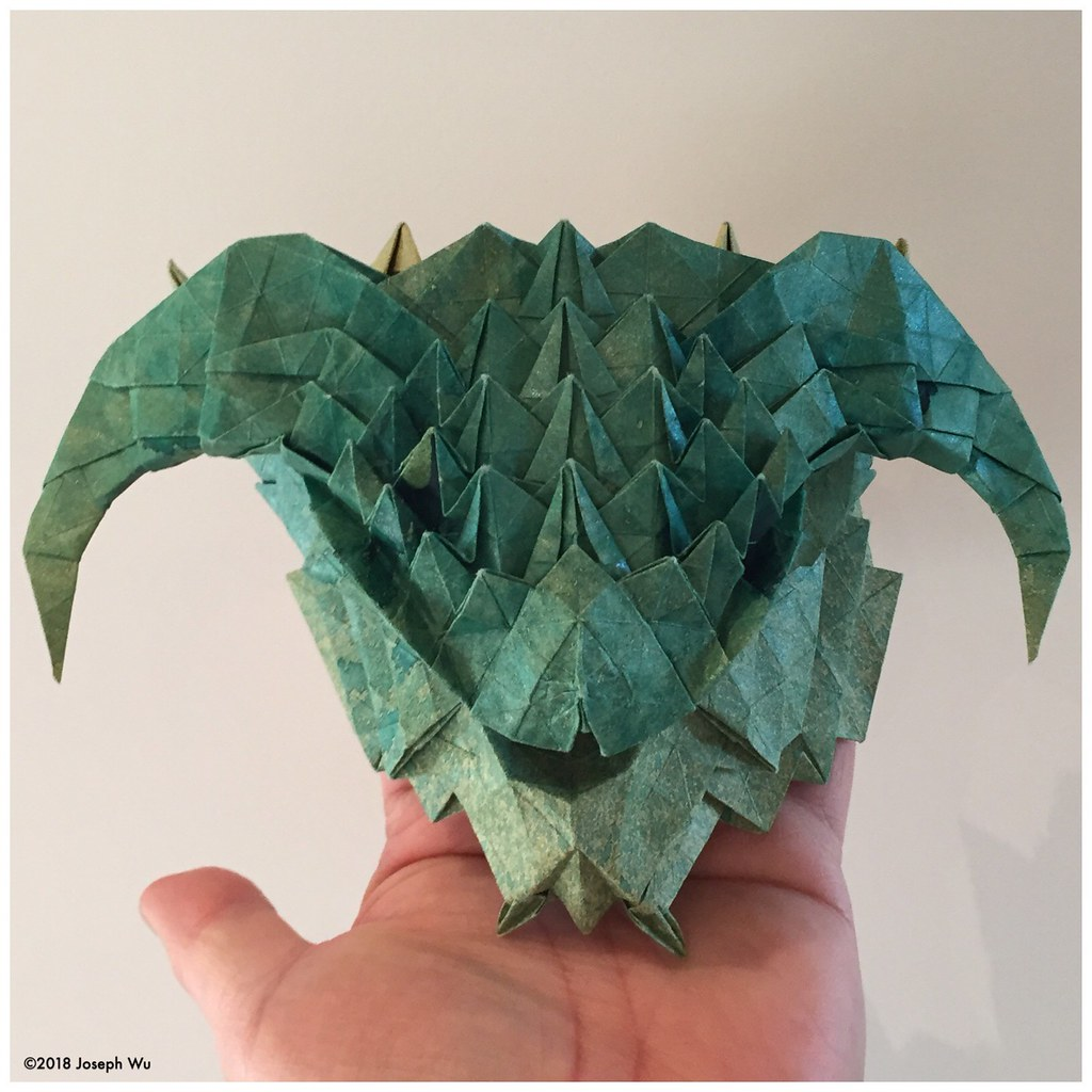 Origami Dragon Head Instructions | 1024x1024