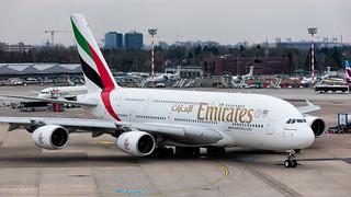 A6-EEW   Airbus A380   Emirates   Düsseldorf   March 2018   by Flightline Photography UK