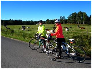 Biking around in the parish (with pros)