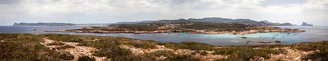 Cala Compte from Illa des Bosc