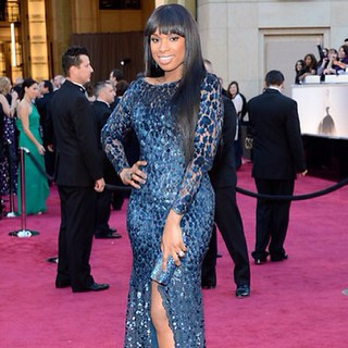 Jennifer Hudson was a blue doll in this dress at the Oscars 2013 | by Clotee Pridgen Allochuku