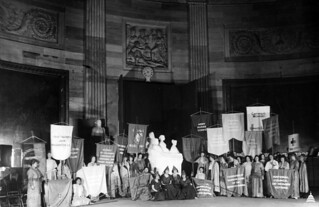 Suffrage Monument Unveiling in 1921