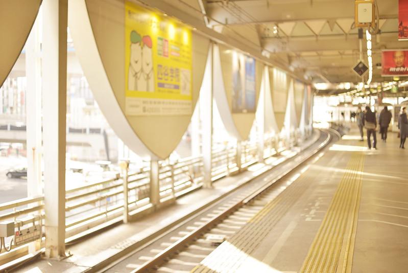 日の差し込むホーム (東横線旧渋谷駅) by Noël Café