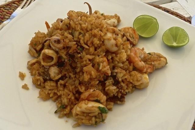 Mancora beach sea food