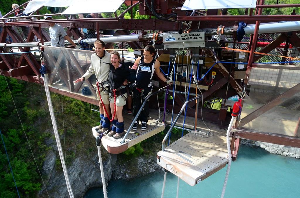 Valentines Day Tandem Bungy Jump at Kawarau Bridge in New