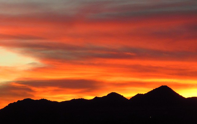 Sunset Over Three Peaks, 12 March 2013