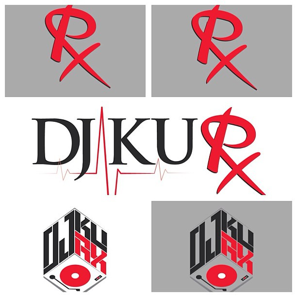 New DJ Ku Rx logos! #music #Branding #Graphicdesign #hipho