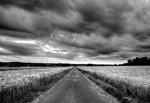 road field barley clouds landscape cornfield wheat perspective oxfordshire tonemapped