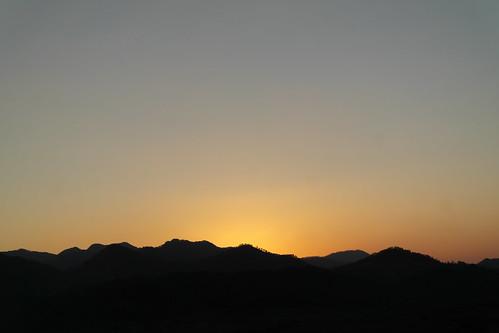 sunset mountain atardecer sierra