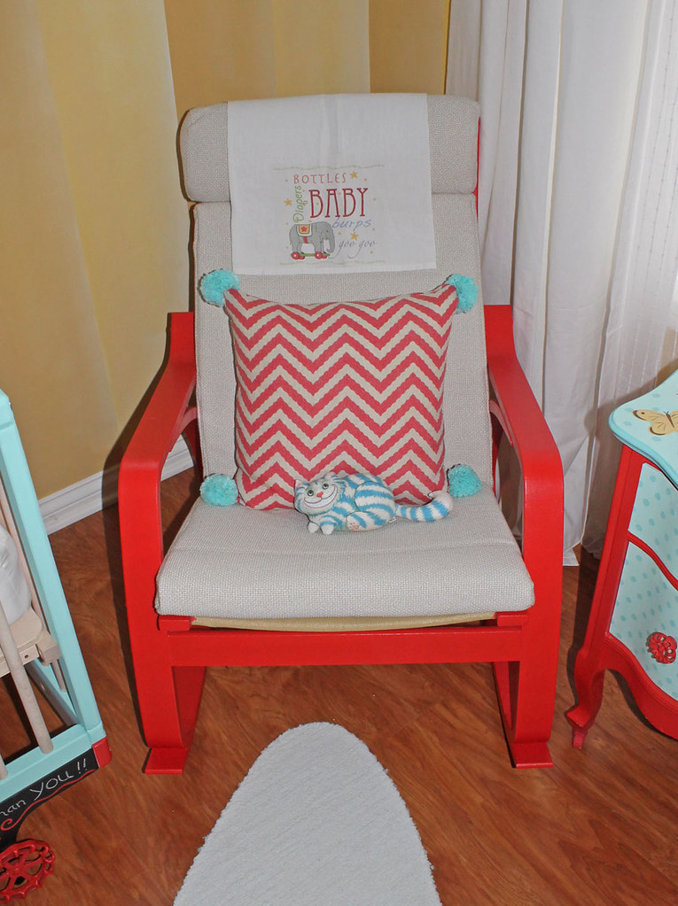 Amazing Vintage Circus Nursery Rocking Chair Ikea Poang Rocker Rep Gmtry Best Dining Table And Chair Ideas Images Gmtryco