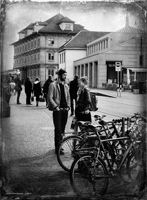 Street scene in Zurich