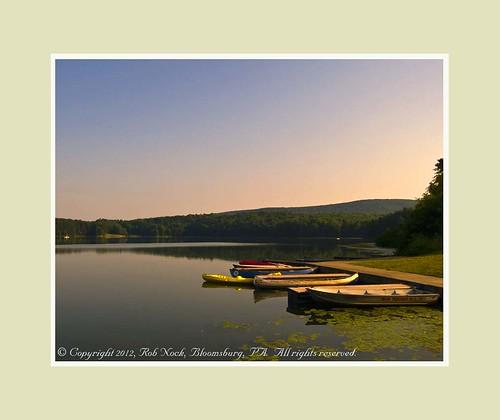 lake sunrise boats unitedstates scenic pa hillscreekstatepark