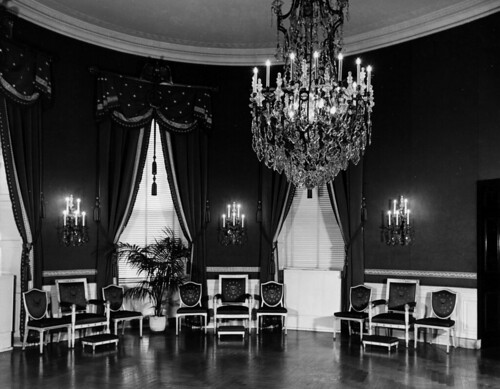 White House Blue Room, 11/13/1947 | by The U.S. National Archives